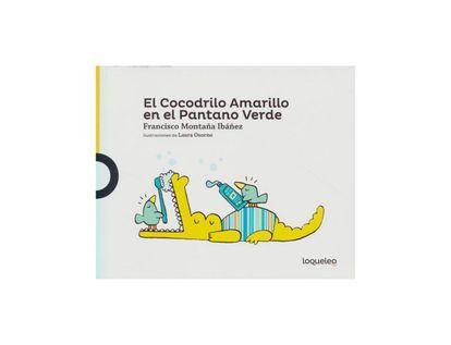 el-cocodrilo-amarillo-en-el-pantano-verde