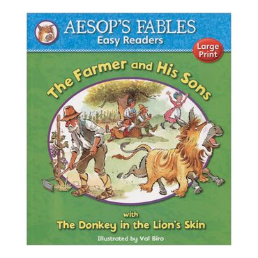 the-farmer-and-his-sons-with-the-donkey-in-the-lions-skin-aesops-fables-easy-readers-4-9781841359601