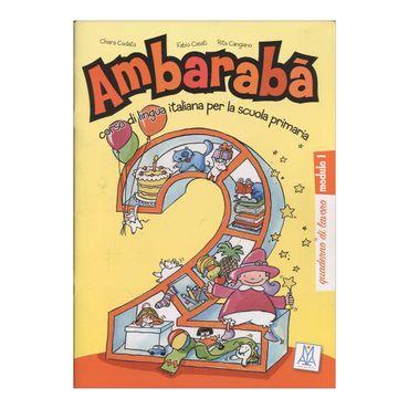ambaraba-2-quaderno-di-lavoro-modulo-1-9-9788861820678