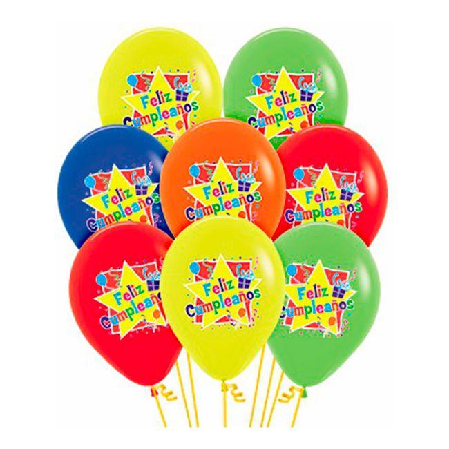 Bomba Policromía De Feliz Cumpleaños R 12 10 Unidades Panamericana