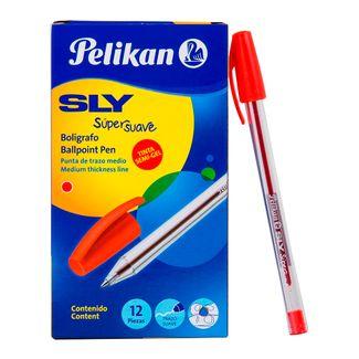 boligrafo-sly-pelikan-x-12-rojo-1-7703064000018