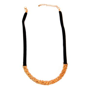 f9190c6e5a8e Collar trenzado con piedras moradas y rojas - Panamericana