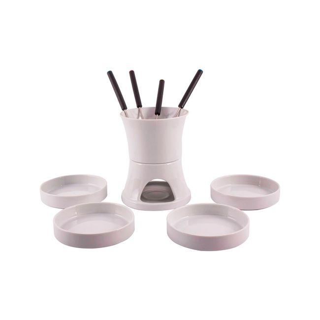 Set para fondue x 10 piezas en porcelana - Panamericana