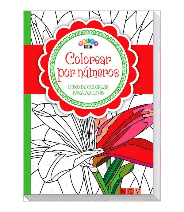 Colorear Por Números Libro De Colorear Para Adultos Rojo