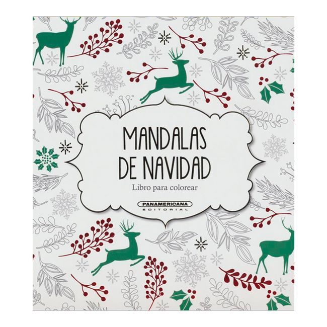 Mandalas De Navidad Libro Para Colorear Panamericana