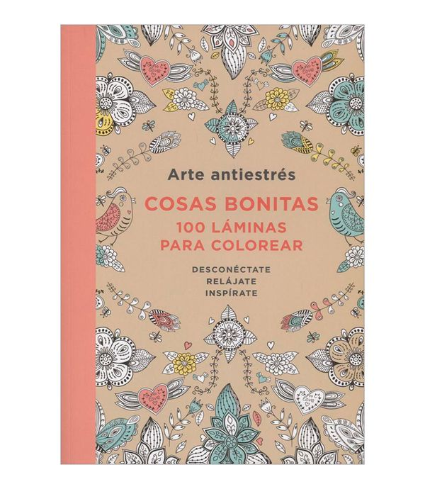 Arte Antiestrés Cosas Bonitas 100 Láminas Para Colorear
