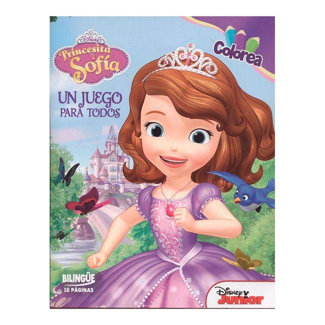 Libro para colorear Princesita Sofía. Un juego para todos - Panamericana