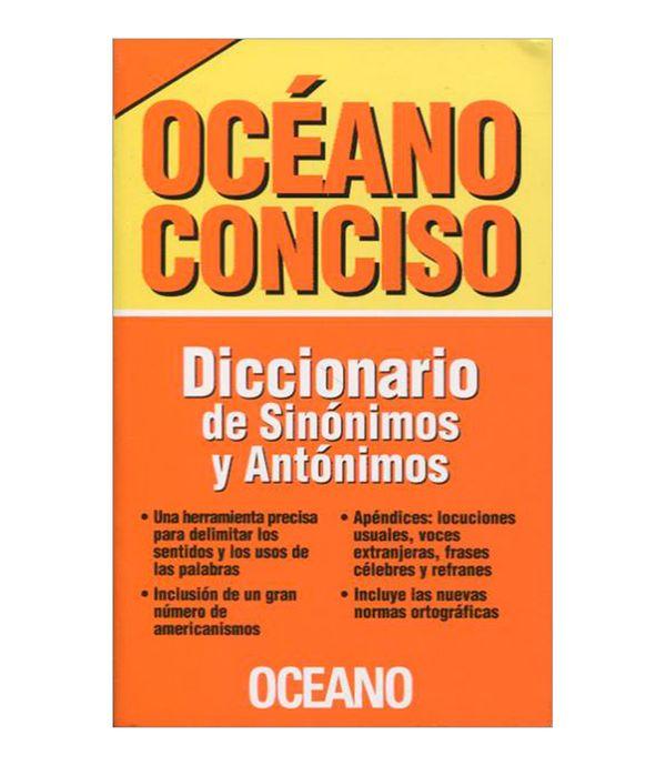 Océano Conciso Diccionario De Sinónimos Y Antónimos