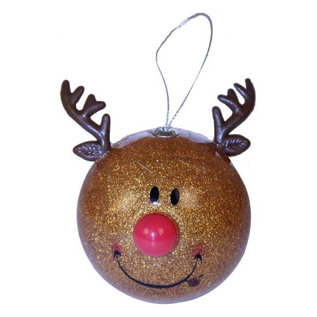 Bola navide a para rbol con imagen de reno panamericana - Bola arbol navidad ...