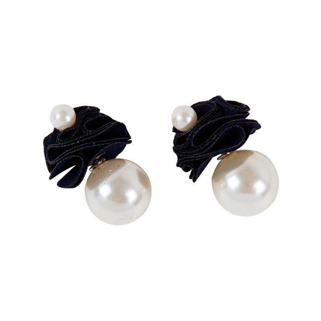 f672d297ef0c Aretes con perlas grandes y rosas - Panamericana