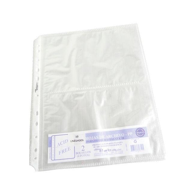905227c9947 Protectores para hojas de polipropileno con 2 bolsillos, tamaño carta  Panamericana