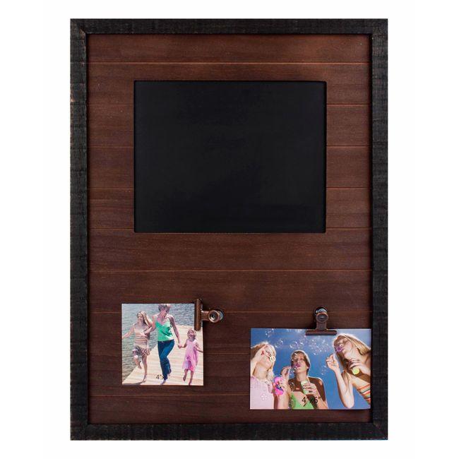 Portarretratos con ganchos y marco de madera - Panamericana