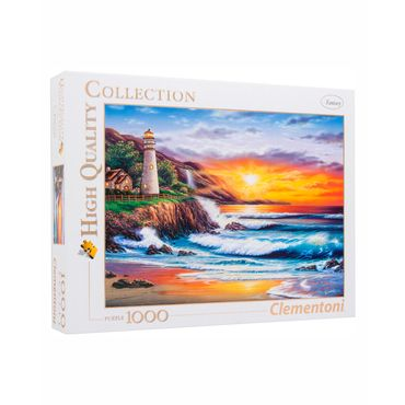 rompecabezas-x-1-000-piezas-clementoni-lighthouse-at-sunset-8005125393688