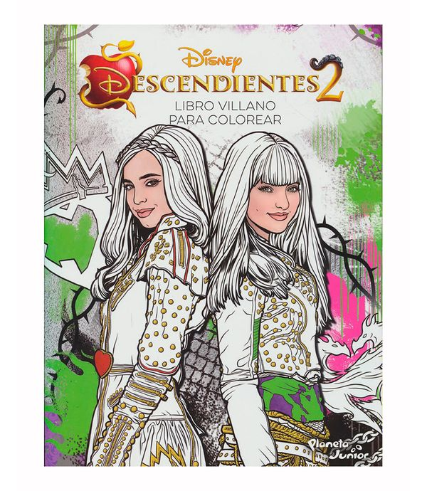 Descendientes 2 Libro Villano Para Colorear Panamericana New