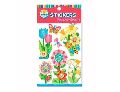stickers-decorativos-de-flores-y-mariposas-ronda-673110440
