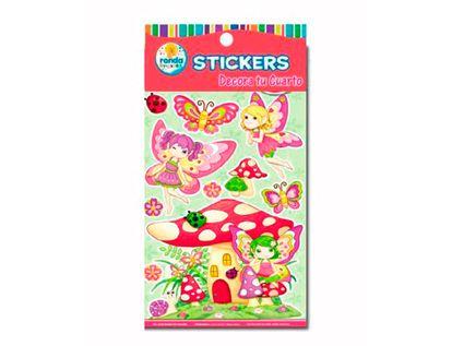 stickers-decorativos-de-hadas-con-hongos-ronda-673110464
