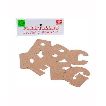 Plantilla De Letras A Z Y Numeros De 0 9 X 62 Piezas Panamericana