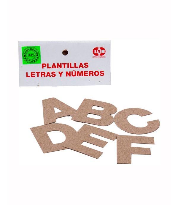 Plantillas De Letras Y Números 57 Figuras Panamericana New