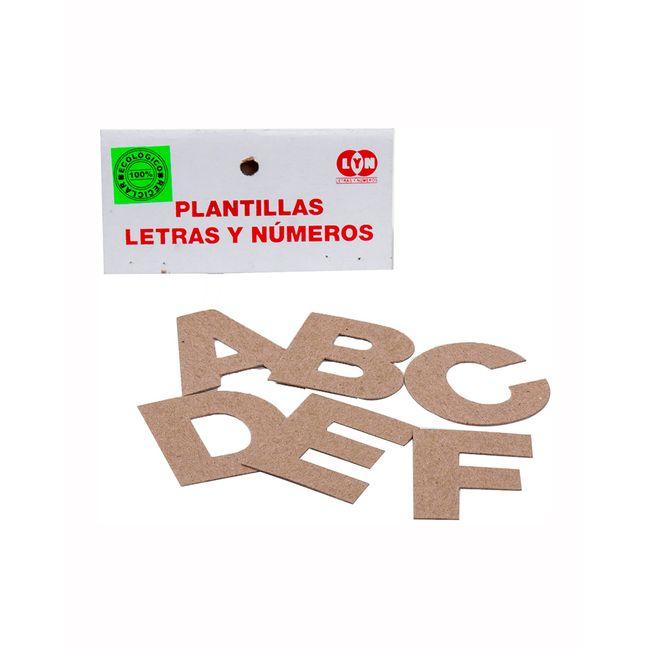 Plantillas De Letras Y Numeros 57 Figuras Panamericana