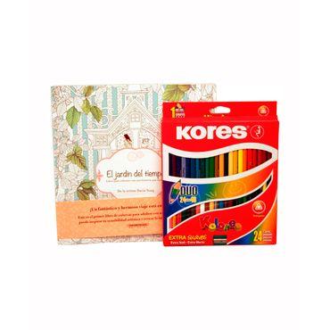 colores-triangulares-doble-punta-kores-x-24-libro-jardin-del-tiempo-9023800932242
