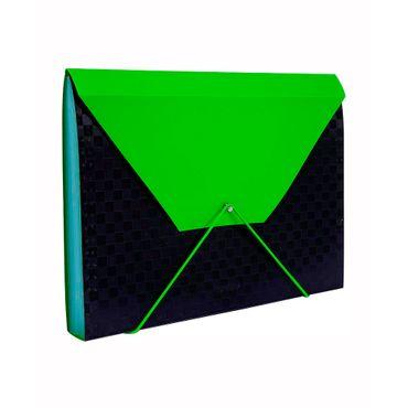 archivador-fuelle-a4-13-bolsillos-negro-verde-6932717101050