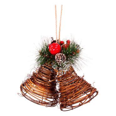 set-de-2-campanas-navidenas-para-colgar-con-frutos-rojos-y-pinas-7701016163743