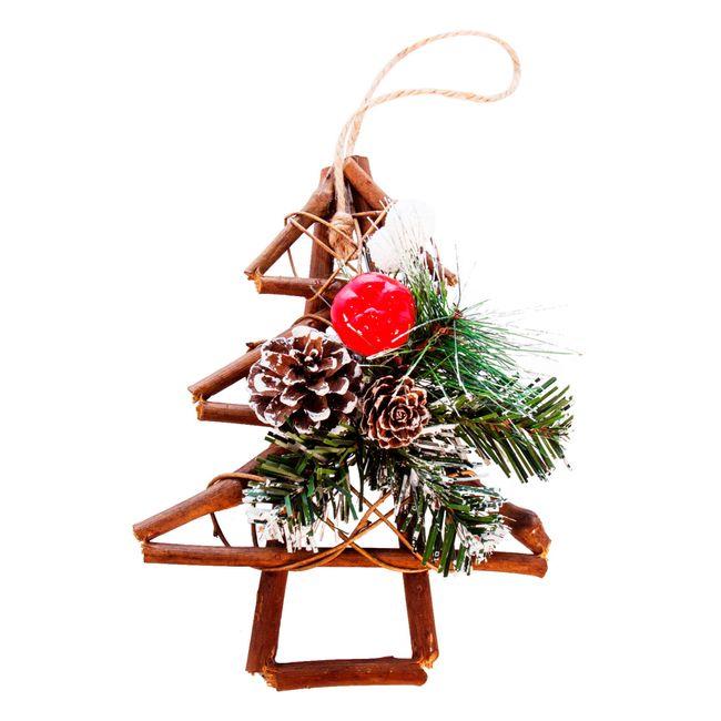 Adorno navide o de rbol para colgar con pi as y esferas - Adorno navideno con pinas ...