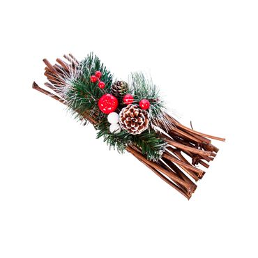adorno-navideno-conos-de-pino-con-bolas-rojas-y-blancas-sobre-base-de-ramas-7701016163682