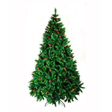 arbol-navideno-convencional-de-240-cm-color-verde-con-pinas-y-cerezas-7701016146906