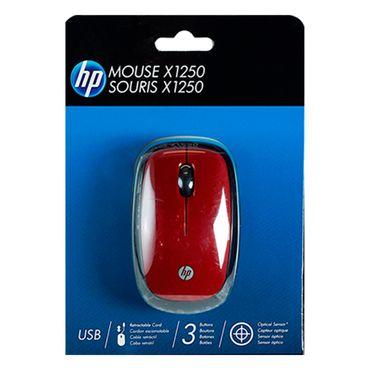 mouse-hp-x1250-alambrico-retractril-rojo-887758265949