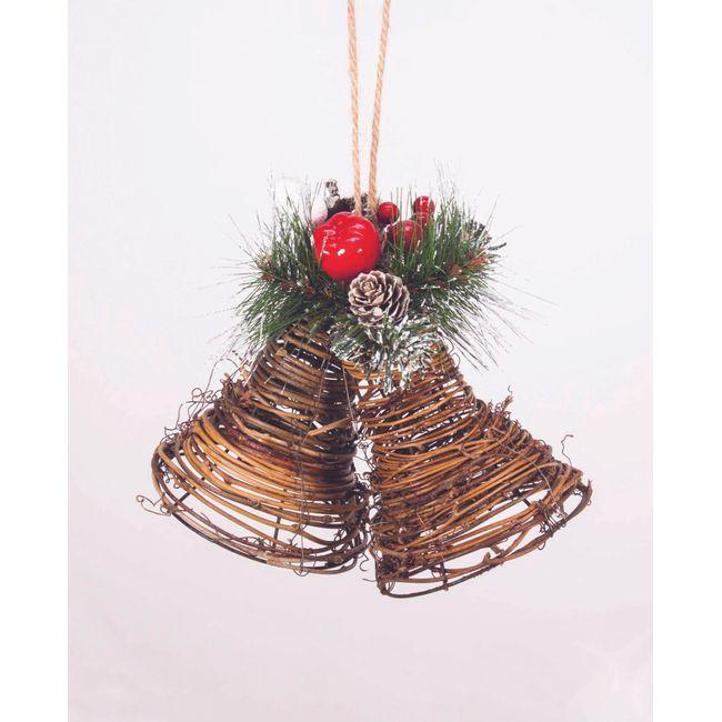 top fabulous cheap set de campanas navideas para colgar con frutos rojos y pias with campanas navideas with pias navideas with campanas navideas - Campanas Navideas