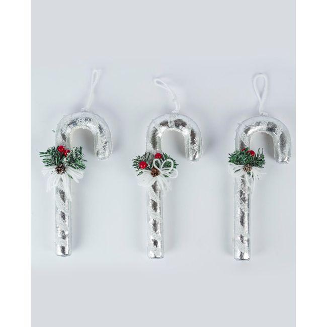 Set de 3 bastones color blanco para árbol de Navidad - Panamericana