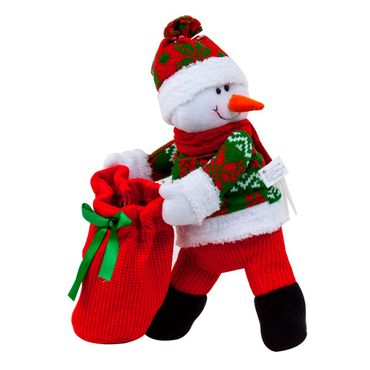 figura-de-hombre-de-nieve-y-portabotella-31-cm-7450008598888