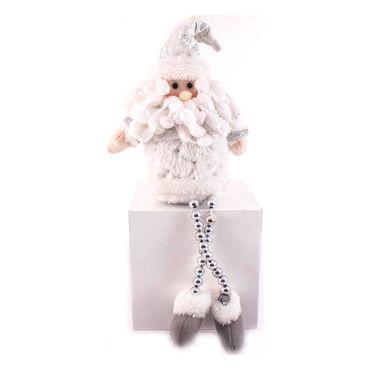 santa-38cm-sentado-piernas-sueltas-blanco-plata-7701016912723
