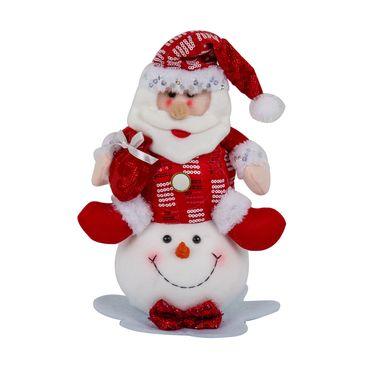 santa-sentado-sobre-cabeza-de-hombre-de-nieve-28cm-7701016911696