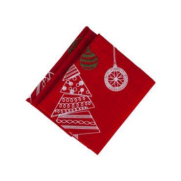 mantel-navideno-rojo-de-114-cm-x-114-cm-decorado-de-arboles-y-esferas-7701016182683