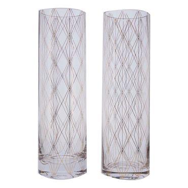 set-de-2-vasos-en-vidrio-con-rombos-dorados-7701016171939