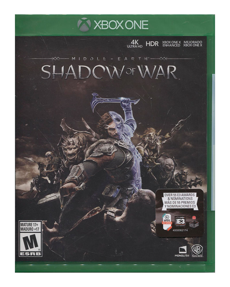 Juego middle earth: shadow of war xbox one