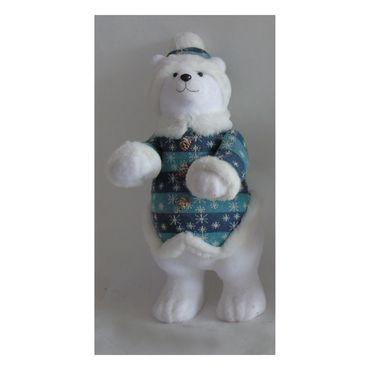 oso-polar-42-cm-de-pie-blanco-azul-con-abrigo-copo-de-nieve-7701016176590