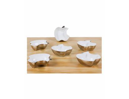 set-de-platos-x-6-piezas-con-borde-plateado-y-diseno-con-manzanas-7701016247382
