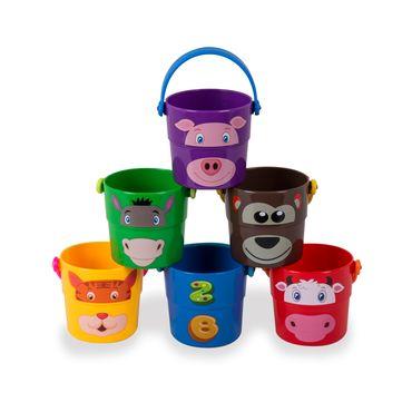 set-de-6-baldes-decoracion-animales-del-zoo-1552462000009