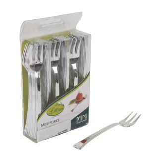 juego-de-48-tenedores-mini-plasticos-plateados-763615317382