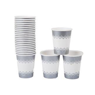 vaso-de-9-oz-x-24-piezas-blancas-con-borde-plateado-en-papel-763615908825