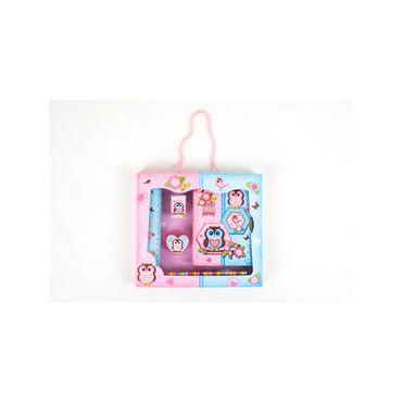 set-diario-de-lujo-con-accesorios-buhos-7701016180054