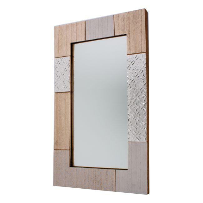 Espejo de pared rectangular marco ancho panamericana for Espejo marco ancho