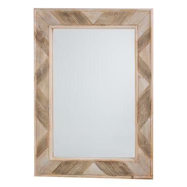 Espejo de pared de 80 cm x 70 cm marco gris claro for Espejo marco gris