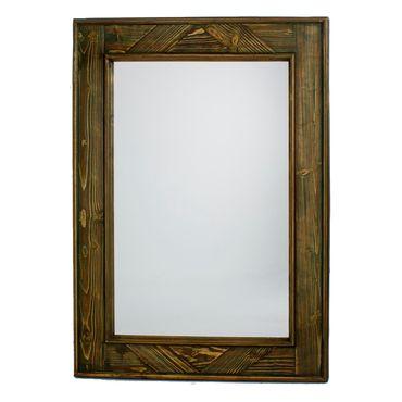 Espejo de pared de 70 cm marco blanco con gris panamericana for Espejo marco gris