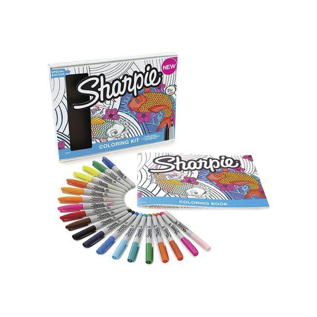 Marcador permanente Sharpie x 20 uds. + hojas para colorear ...