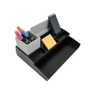 set-organizador-de-escritorio-color-gris-con-negro-7704634013179