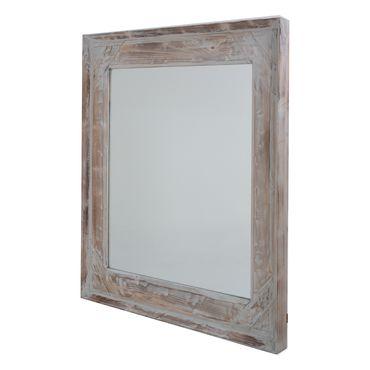 Set de espejos con dise o de flores color dorado for Espejo marco madera blanco